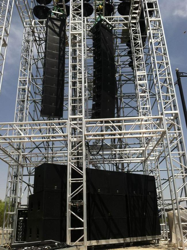 High Power Line Array Sound System For Theatre 2 Neutrik
