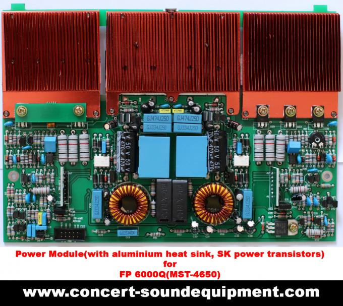 4 Channel Switching Power Amplifier 4x650W FP 6000Q With Actual Copper Heat Sink