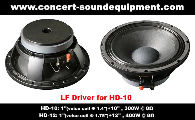 "400W Nightclub Sound System 1""+12"" Full Range Speaker For Pub , Karaoke , Conference"