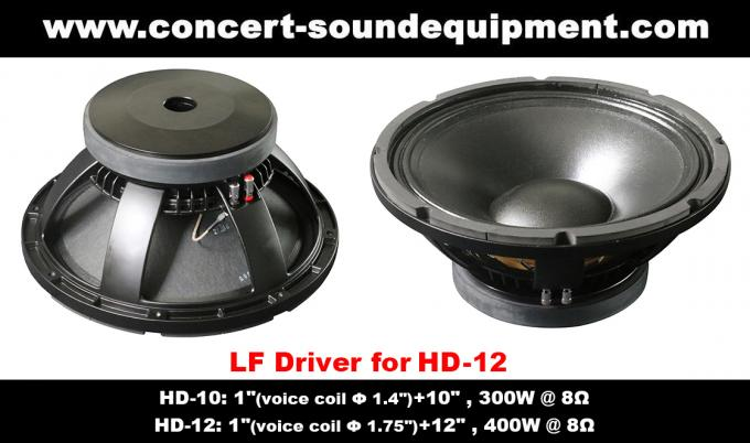 "400W Nightclub Sound Equipment /  1""+12"" Full Range Speaker For Pub, Karaoke, Conference"