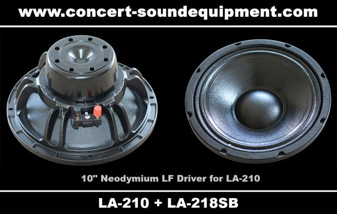 "Concert Sound Equipment / 580W Line Array Speaker With1.4""+2x10"" Neodymium Drivers"