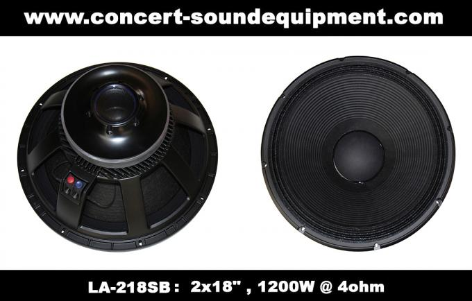 "Line Array Speaker / 2x18"" Horn Loaded 4ohm 1200W Subwoofer For Concert , Living Event And Show"