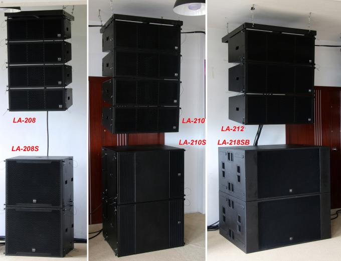 "60Hz Disco 680W Line Array Speaker With 1.4"" + 2x10"" Neodymium Drivers For Fixed Installation"