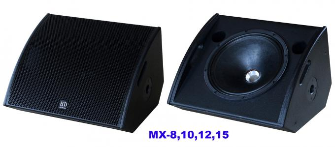 "PA Sound Equipment 480W 3"" + 15"" Plywood Coaxial Stage Monitor For Living Event And Show"