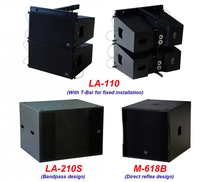 "Single 10"" Full Range Line Array Speaker LA-110 For Party , Living Event , Church and Wedding"