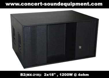 "China Line Array Speaker / 2x18"" Horn Loaded 4ohm 1200W Subwoofer For Concert , Disco And Club supplier"