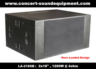 """China Line Array Speaker / 2x18"""" Horn Loaded 4ohm 1200W Subwoofer For Concert , Living Event And Show supplier"""