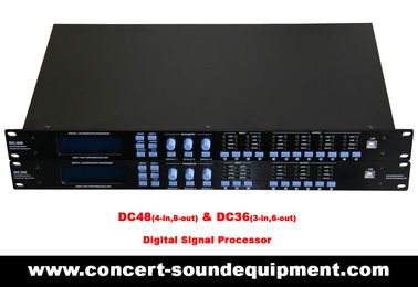 China Concert Sound Equipment / 4 input , 8 ouput Digital Signal Processor For Line Array Speaker System supplier