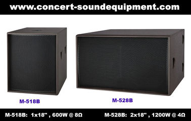 "China Disco Sound Equipment / 2x18"" Direct Reflex 4ohm 1200W Subwoofer For Concert , Nightclub And Living Event supplier"