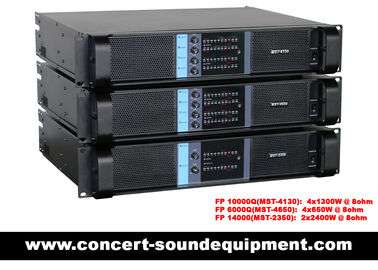 China Concert Sound Equipment / 4 Channel 4x1300W Switching Amplifier FP 10000Q With Actual Copper Heat Sink supplier