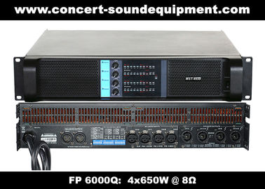 China 4 Channel Switch Mode Amplifier / 4x650W FP 6000Q For Stage Monitor And Small Line Array Speaker supplier