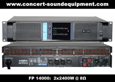 China High Output 2x2400W FP 14000 Switching Power Amplifier With NOVER Power Capacitors supplier