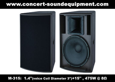 "China 475W 1.4"" + 15"" Full Range Speaker Sound Equipment For Nightclub , Disco , Conference And Church supplier"