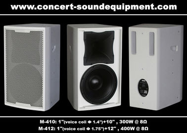 China Bass Reflex Full Range Nightclub Sound Equipment 96dB 97dB Black / White Finish supplier