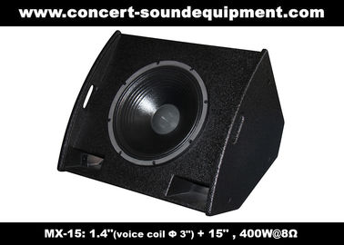 "China PA Sound Equipment 400W 3""+15"" Plywood Coaxial Stage Monitor For Living Event And Show supplier"