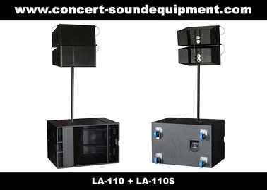 "China Line Array Sound System , 2x1""+10"" 380W  Line Array Speaker For Living Event , DJ And Party supplier"