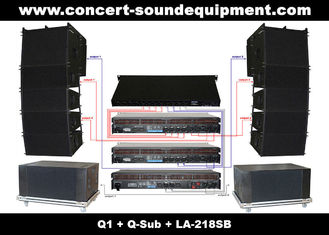 "China 480W Concert Sound Equipment , Full Range Line Array Speaker With1.4""+2x10"" Neodymium Drivers supplier"