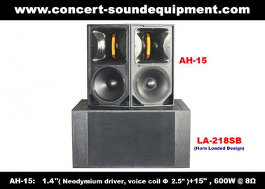 """China 600W Concert Sound Equipment , 1.4"""" + 15"""" Full Range Speaker For Show , Conference , Living Event And DJ supplier"""