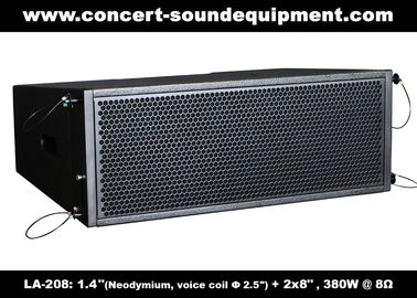 """China 380W Compact Double 8"""" Line Array Speaker For Installation , Church , Conference, Nightclub supplier"""