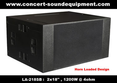 "China Line Array Speaker / 2x18"" Horn Loaded 4ohm 1200W Subwoofer For Concert , Living Event And Show supplier"