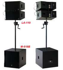 "China 380W Line Array Speaker , With 2x1""+10"" Neodymium Drivers For Living Event , DJ , Party And Installation supplier"