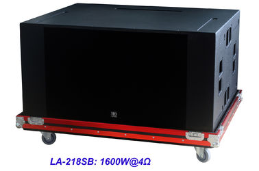 "China High SPL Plywood loudspeaker 2 x 18"" Horn Loaded 4ohm 1600W Subwoofer For Living Event And Show supplier"
