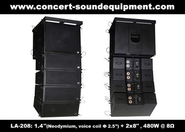 "China 480W Compact Double 8"" Line Array Speaker For Installation , Church , Conference, Nightclub supplier"