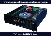 China Nightclub Sound Equipment / 2x1200W Class H High Power Analogue Amplifier For Subwoofer , Disco , Concert factory