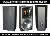 "Good Quality Concert Sound Equipment & 600W Nightclub Sound Equipment , 1.4"" + 15"" Full Range Speaker For Show , Disco , Living Event And DJ on sale"