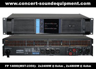 Good Quality Concert Sound Equipment & High Output 2x2400W FP 14000 Switching Power Amplifier With NOVER Power Capacitors on sale