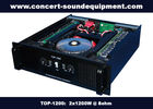 China Concert Sound Equipment / 2x1200W Class H High Power Analogue Amplifier For Subwoofer factory