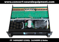 China FP 14000 2 x 2400W Concert Sound Equipment , 2 Channel High Stability Switching Amplifier factory