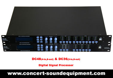 China Digital Sound Processor / 4 input , 8 ouput Digital Signal Processor For Concert And Living Show distributor