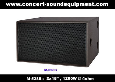 "China Nightclub Sound Equipment / 2x18"" Direct Reflex 4ohm 1200W Subwoofer For Concert , Disco Living Event  And Show distributor"