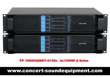 China Switching Amplifier For Live Sound Speaker / 4 Channel High Stability FP 10000Q 4*1300W @ 8ohm distributor