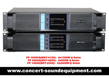 China Line Array Sound System , FP 10000Q 4 Channel Switch Mode Amplifier 4x1300W factory