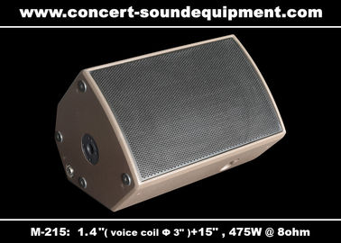 "China 475W Disco Sound Equipment 1.4"" + 15"" Stage Monitor , Full Range Speaker For Installation distributor"