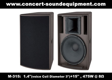 "China 1.4"" + 15"" Sound Equipment /  475W Full Range Speaker For DJ And  Installation In Disco, Nightclub , Church distributor"
