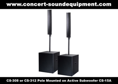 "China 8 ohm 360W Conference Room Audio Systems 12x3"" Aluminium Column Speaker For Church distributor"