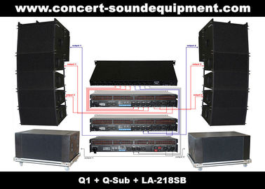 "China 480W Line Array Speaker Sound System ,With1.4""+2x10"" Neodymium Drivers And Built-in Crossover distributor"