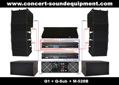 "China Nightclub Sound Equipment , 480W Full Range Compact Line Array Speaker With 1.4""+2x10"" Neodymium Drivers distributor"