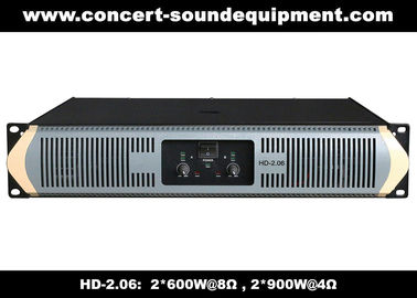 China 8Ω Stereo Output 2 X 600W Analog Audio Amplifier For Living Event / Concert distributor
