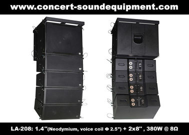 "China 380W Compact Double 8"" Line Array Speaker For Installation , Church , Conference, Nightclub distributor"