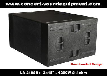 "China Line Array Sound System / 2x18"" Horn Loaded 4ohm 1200W Subwoofer For Concert And Living Event distributor"