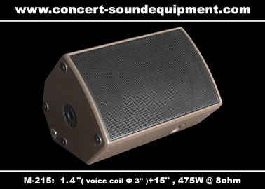 "China 475W Concert Sound Equipment 1.4"" + 15"" Stage Monitor , Full Range Speaker For Installation distributor"