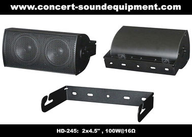 "China 91dB Conference Audio Systems 16ohm 100W 2x4.5"" Aluminium Speaker With Wall Bracket distributor"
