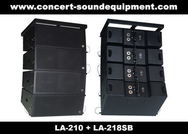 "China Concert Sound Equipment / 580W Line Array Speaker With1.4""+2x10"" Neodymium Drivers distributor"
