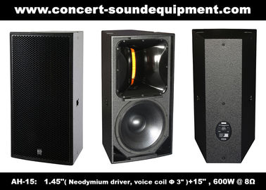 "China 600W Nightclub Sound Equipment , 1.4"" + 15"" Full Range Speaker For Show , Disco , Living Event And DJ distributor"