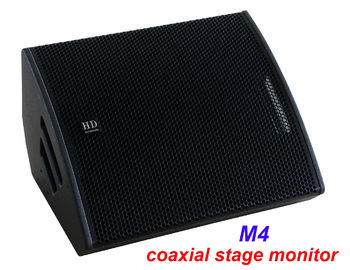 "China PA Sound Equipment 480W 3"" + 15"" Plywood Coaxial Stage Monitor For Living Event And Show distributor"