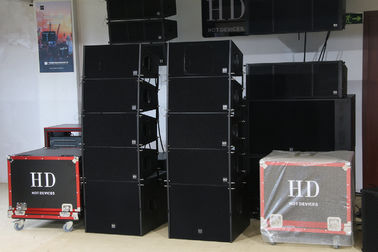 "China 680W Concert Sound Equipment , Full Range Line Array Speaker With1.4""+2x10"" Neodymium Drivers distributor"